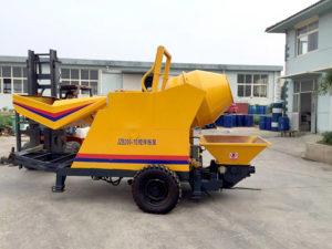 mini concrete mixer pump
