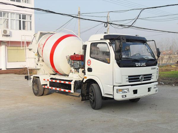 small concrete truck