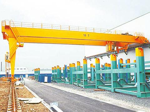 common double girder semi gantry crane supplier